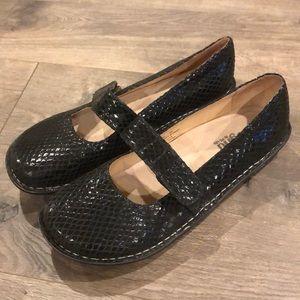 Alegria Maryjane Loafers Size 42 Textured Black